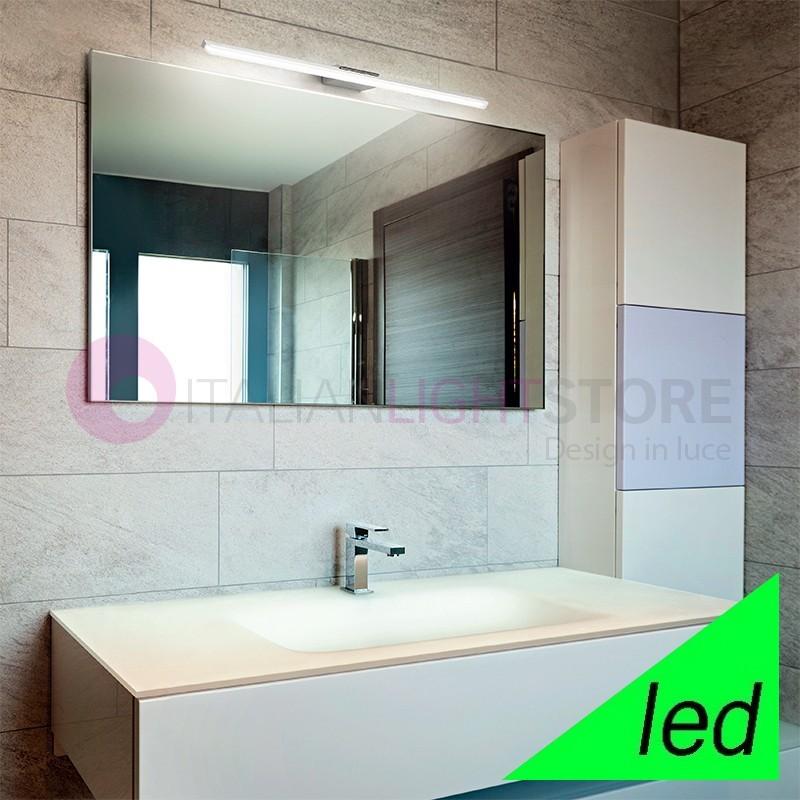 Applique lampada led vetro cristallo graniglia giada di for Specchio bagno led integrato