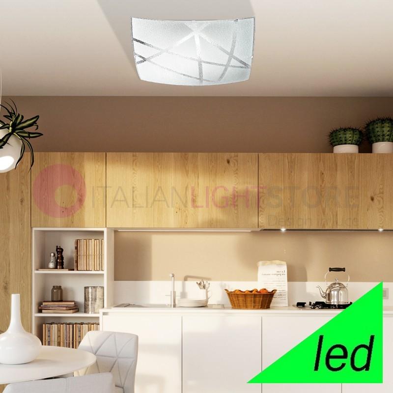 RAIN Ceiling light Ceiling Lamp LED Glass 40x40