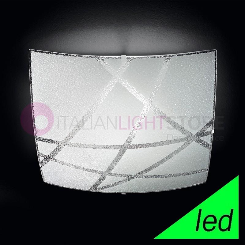 RAIN Plafoniera Lampada a Soffitto a LED in Vetro 50x50