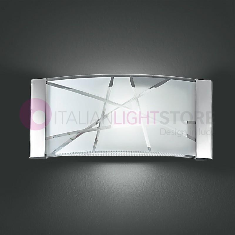 5944 delta lampada a parete vetro applique moderno perenz - Parete in vetro satinato ...