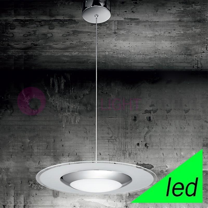 KALÌ Lampada a Sospensione a LED in Vetro d.60