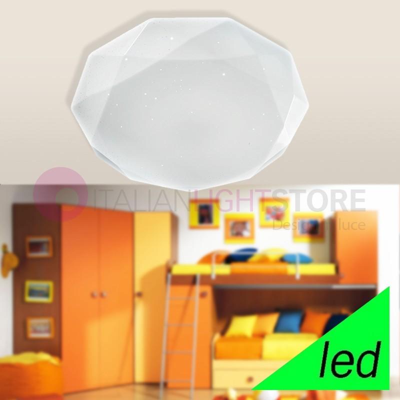 SCINTILLA Plafoniera Lampada a Soffitto a LED D. 53 in acrilico
