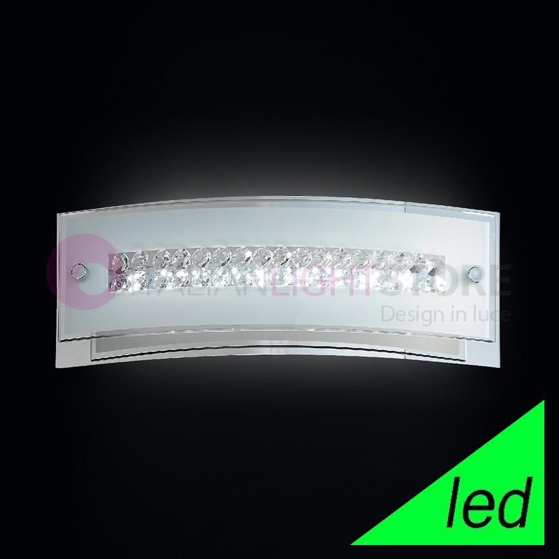 ARMONIA Applique Lampada Parete L. 31 vetro con cristalli | Perenz 6078
