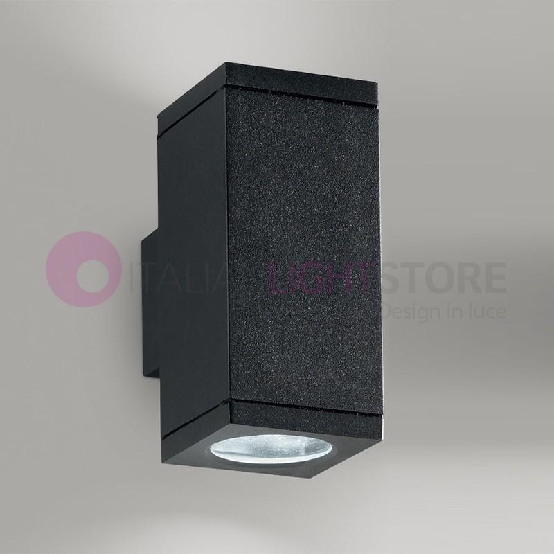 OPUS Lampada a Parete 2 Luci Faretto Moderno Rettangolare GU10 Illuminazione Esterno IP54