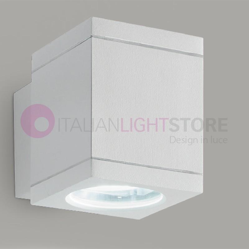 OPUS Lampada a Parete 1 Luce Faretto Moderno cubo GU10 Illuminazione Esterno IP54