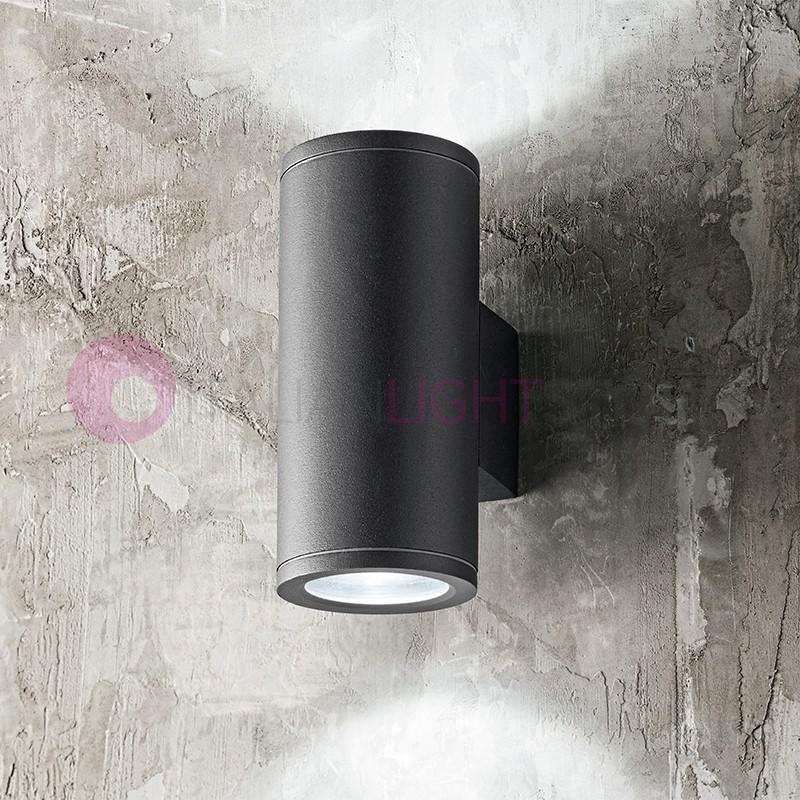 OPUS Lampada a Parete 2 Luci Faretto Moderno Tondo GU10 Illuminazione Esterno IP54