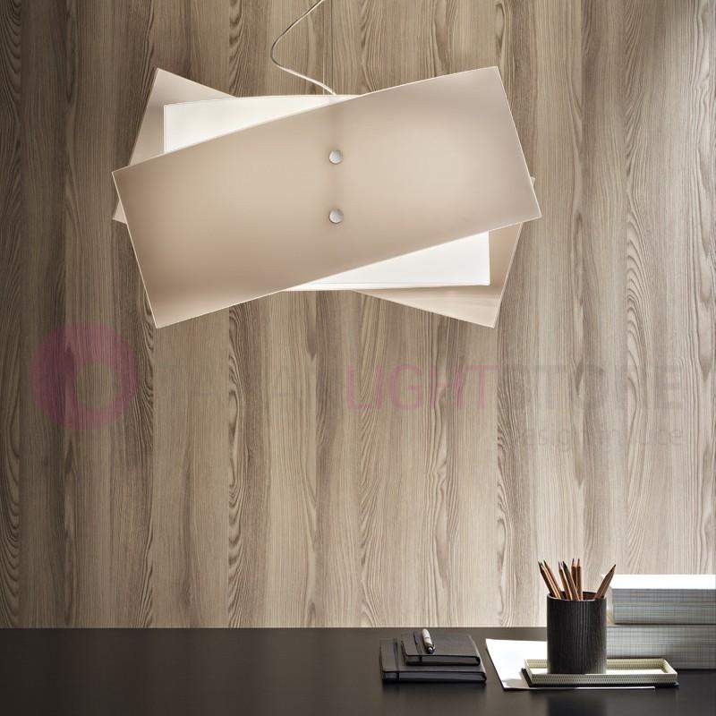 FOLD Modern Chandelier Glass 2 Measures White or Dove