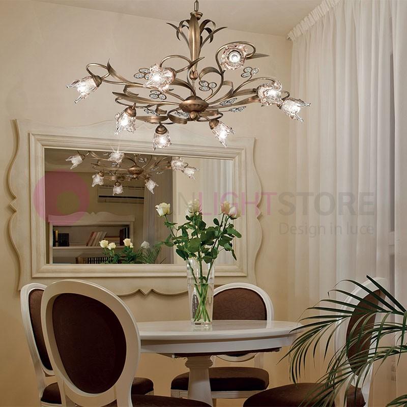 SOFIA Lustre de Style Classique, Rustique 8 Lumières
