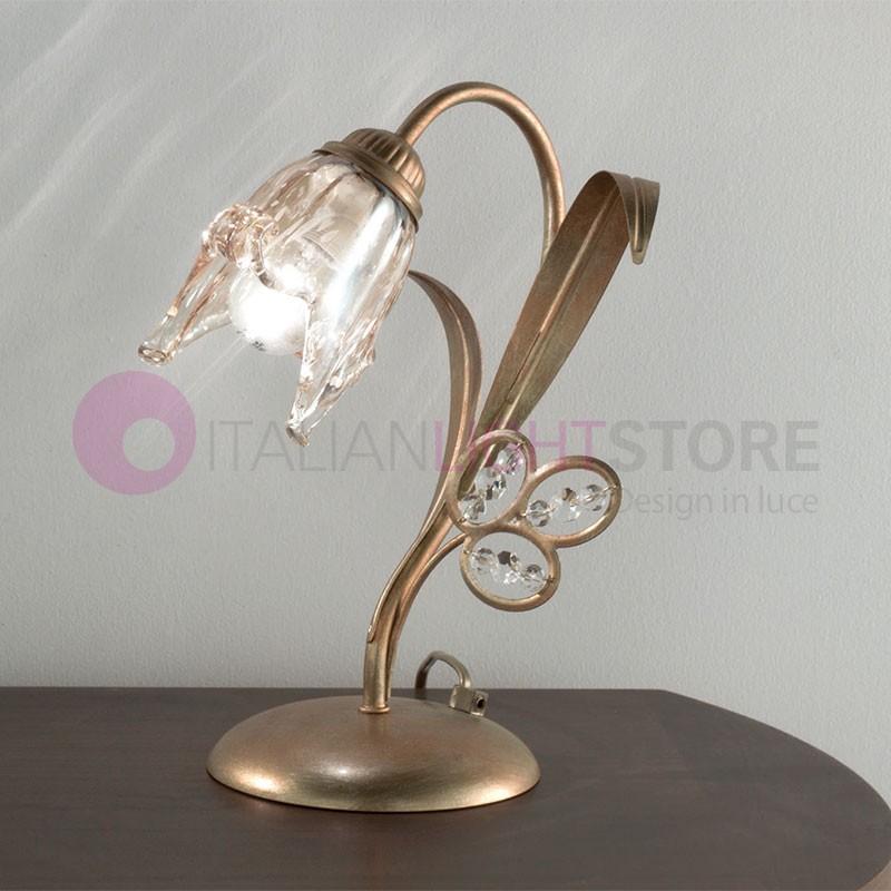 SOFIA Lampada da Tavolo e Comodino Stile Classico Rustico