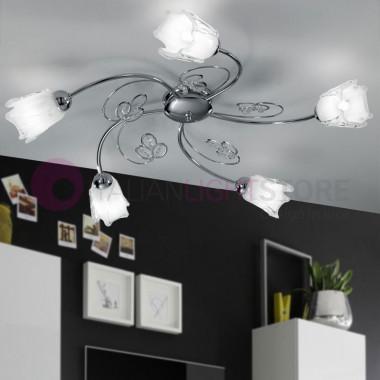 ILENIA Ceiling light with 5 Lights Chrome, Modern