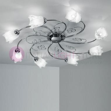 ILENIA, Ceiling light, Ceiling 8 Light Chrome Modern