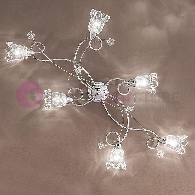 BETTA light fixture on the Ceiling 6 Lights Chrome Modern