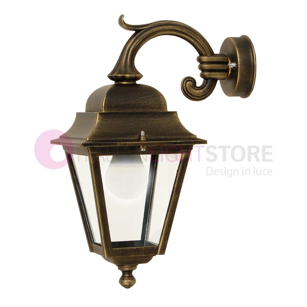 ATHENA PICCOLA Lanterna a Parete Quadrata Classica per Esterno Giardino