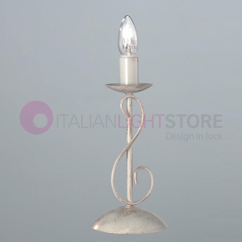 CORTE Lampada da Comodino Candelabro Rustico in Ferro