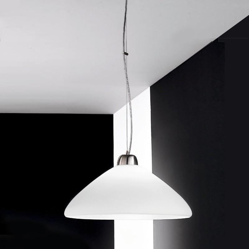 Ring moderna lampada a sospensione per cucina in vetro - Lampade per cucina moderna ...