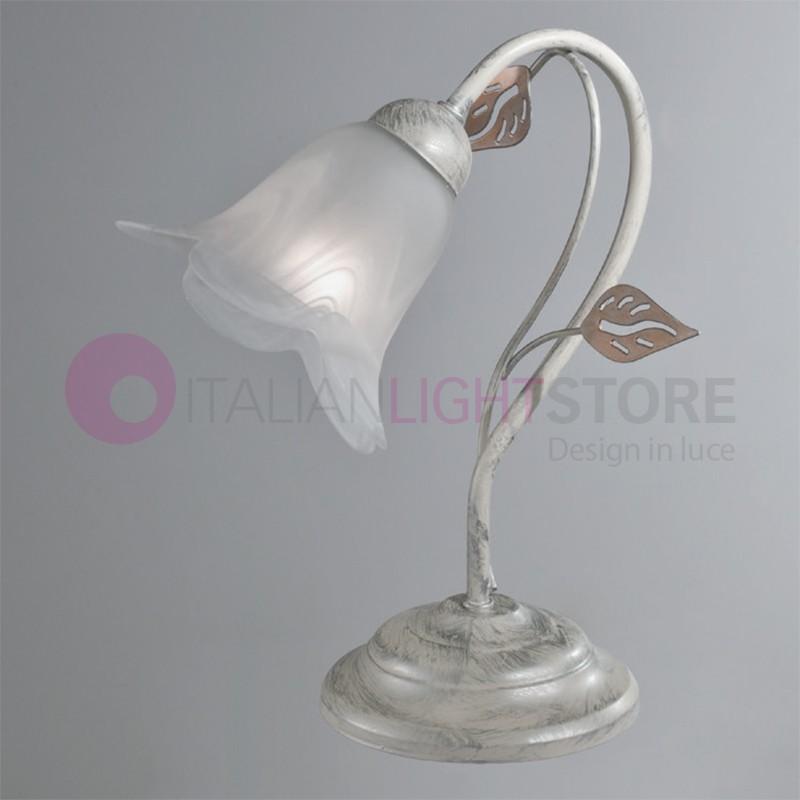 PIENZA table lamp Abat-jour Iron Rustic Floral Style