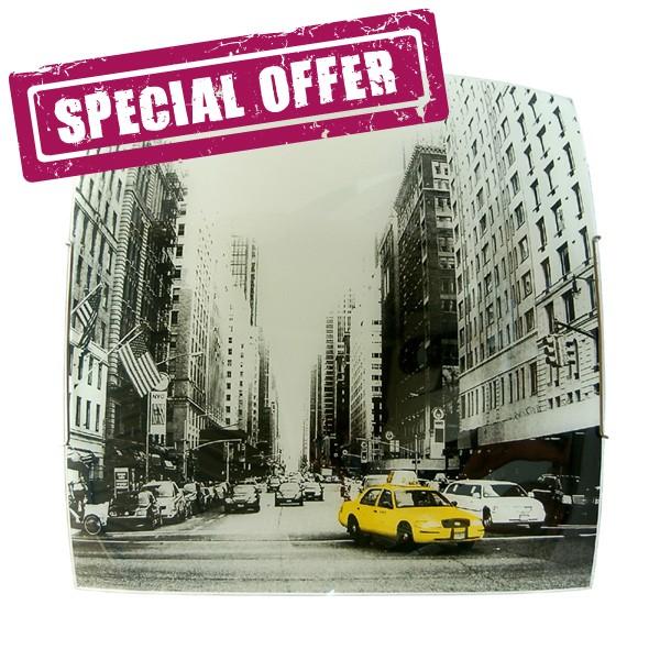 NEW YORK TAXI Ceiling lamp 40x40 screen Printed Design - BID the LAST few PIECES