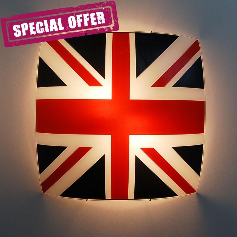 Sospensione bandiera inglese lampada design metropolitan for Applique cameretta bimbi