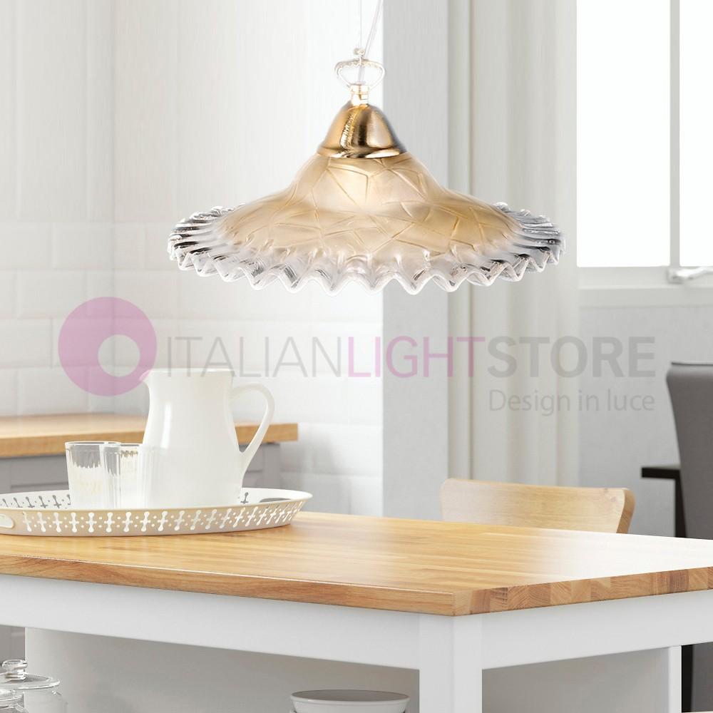 ANITA Lampada a Sospensione per cucina in vetro d30   2577 DueP