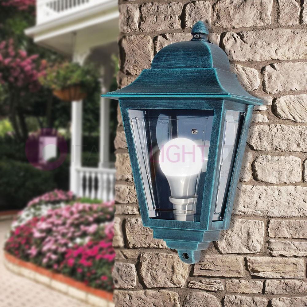 ATHENA PICCOLA Mezza Lanterna a Parete Quadrata Classica per Esterno