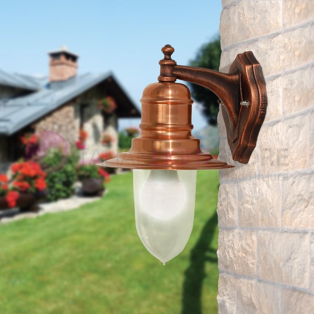 Campiello lampe murale en cuivre naturel classique de l for Lampe pour jardin exterieur