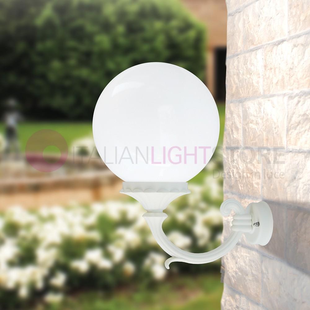 ORION WHITE S25 Wall Lamp Outdoor Garden Ball Globe d.25
