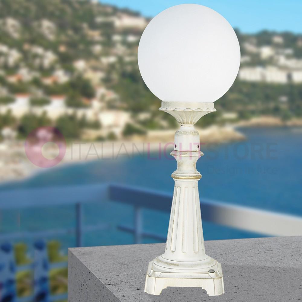 Globe exterieur great boule lumineuse blanche extrieure for Luminaire globe exterieur