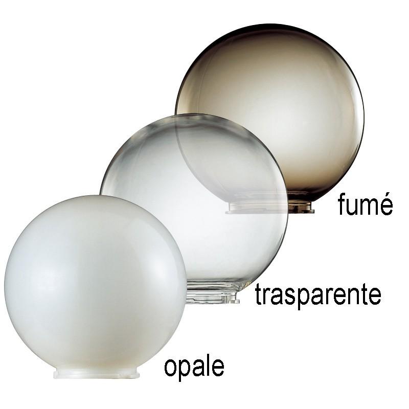 Orione s25 palo lampione bianco sfera globo d25 for Lampioni per esterno