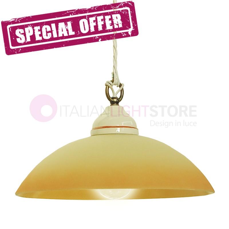 KARINE Lamp Suspension Ceramic Glass D. 30 - OFFER