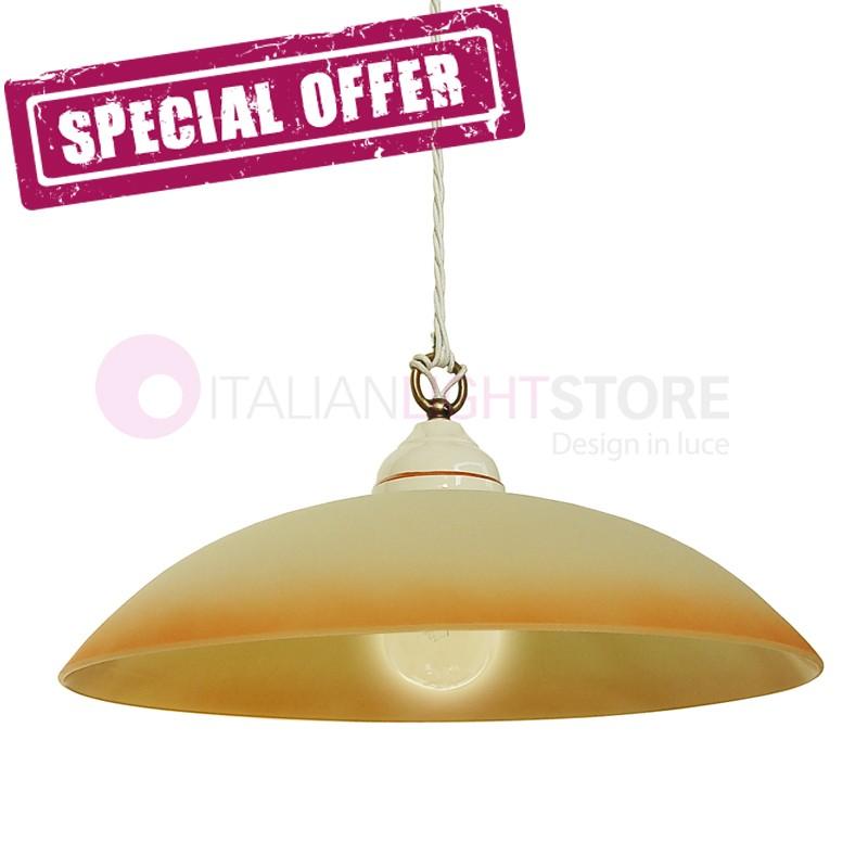 KARINE Lamp Suspension Ceramic Glass D. 40 - OFFER