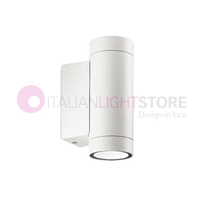 AUSTIN Lampada a Parete Faretto Bianco da Esterno 2 Luci Moderno IP54 GES661