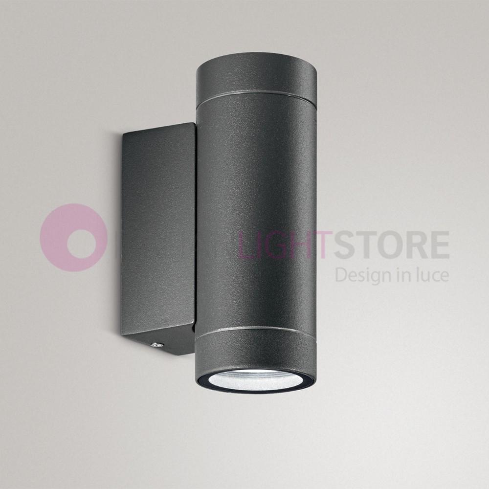 AUSTIN Lampada a Parete Faretto da Esterno 2 Luci Design Moderno IP54