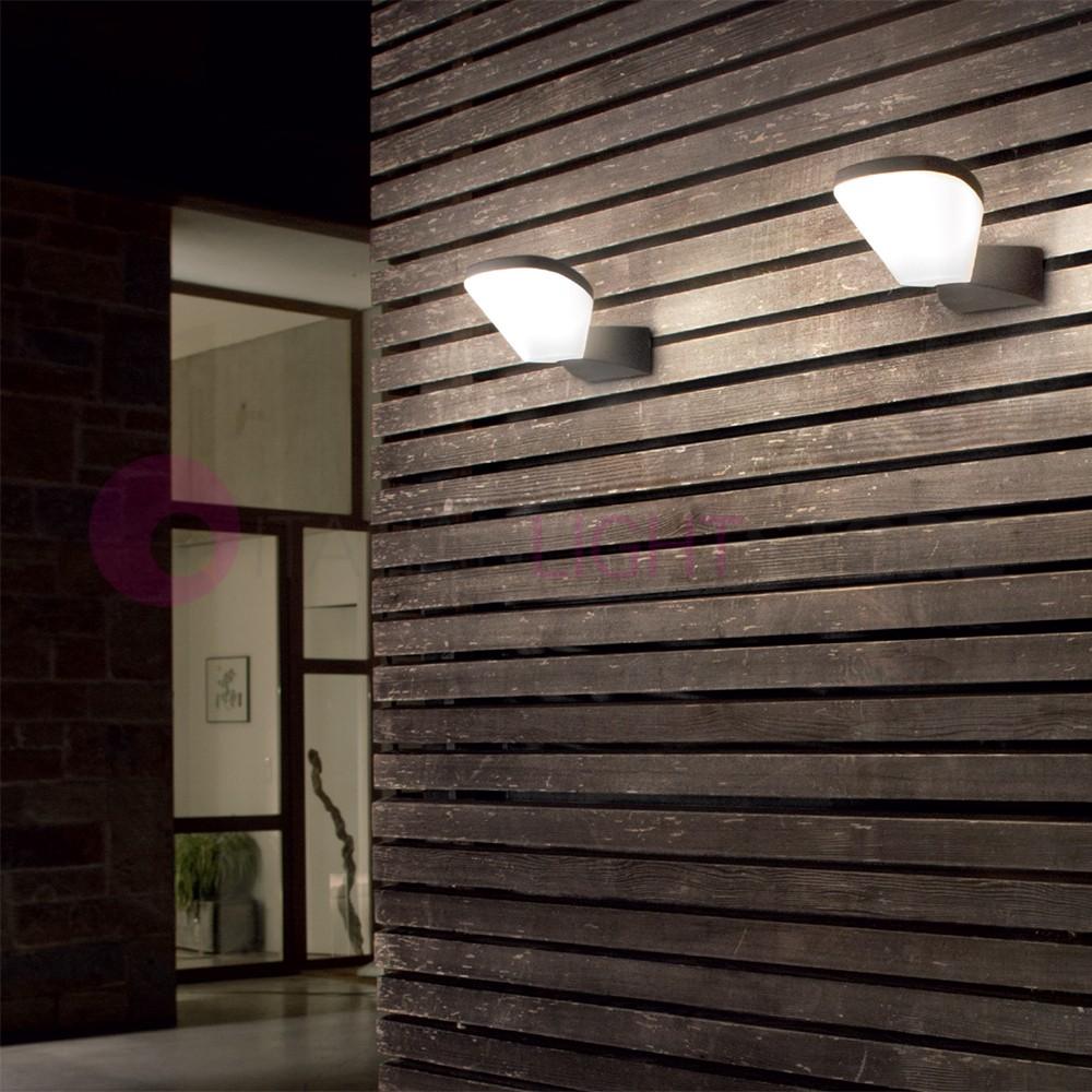 Mercury lampada a parete a led da esterno moderno ip54 for Lampade a led casa
