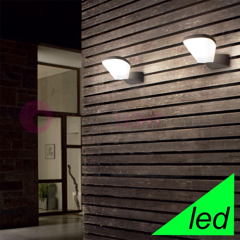 MERCURY Lampada a Parete a Led Moderna da Esterno IP54 Illuminazione Design