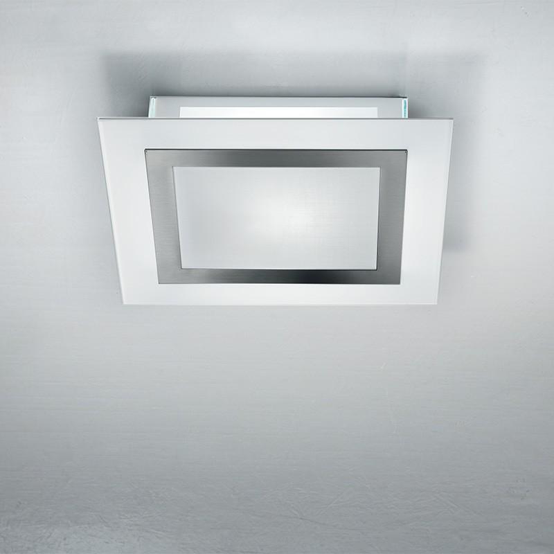 FRAME Plafoniera Vetro Rettangolare 40x36 Design Moderno