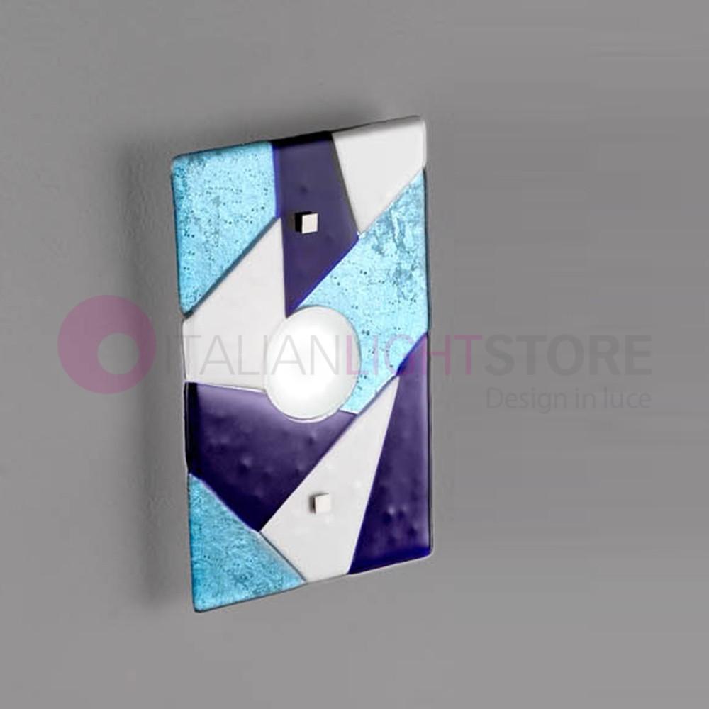 TRIGONO Plafoniera Moderna in Vetro di Murano L. 30x20