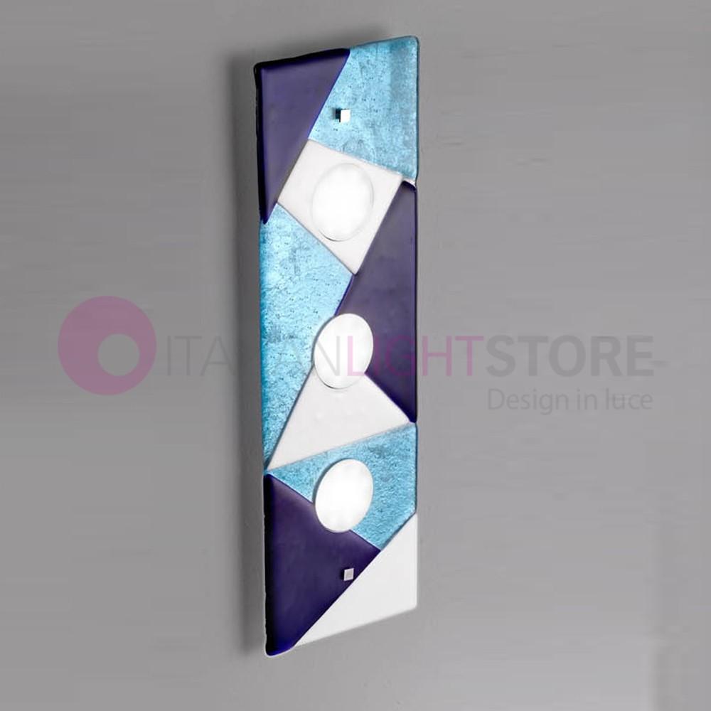 TRIGONO Plafoniera Moderna in Vetro di Murano L. 60x20
