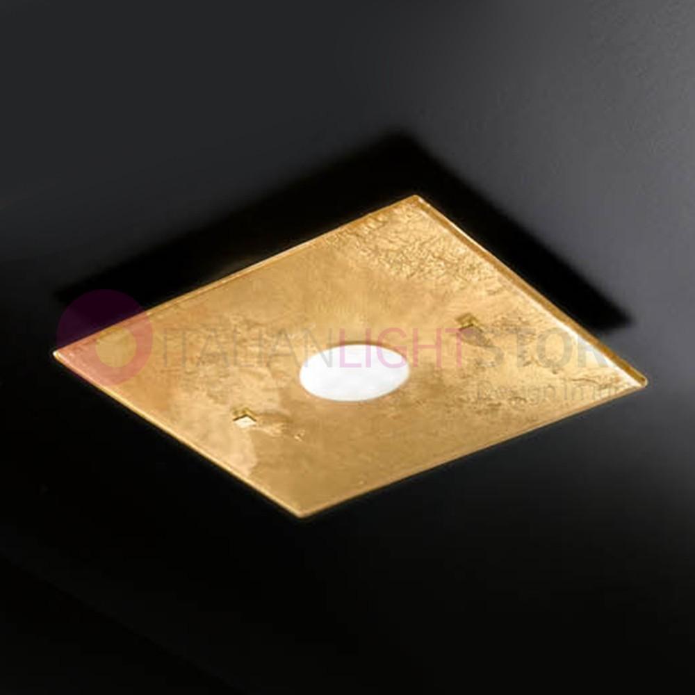 LUCIS Plafoniera Moderna in Vetro di Murano L. 30x30