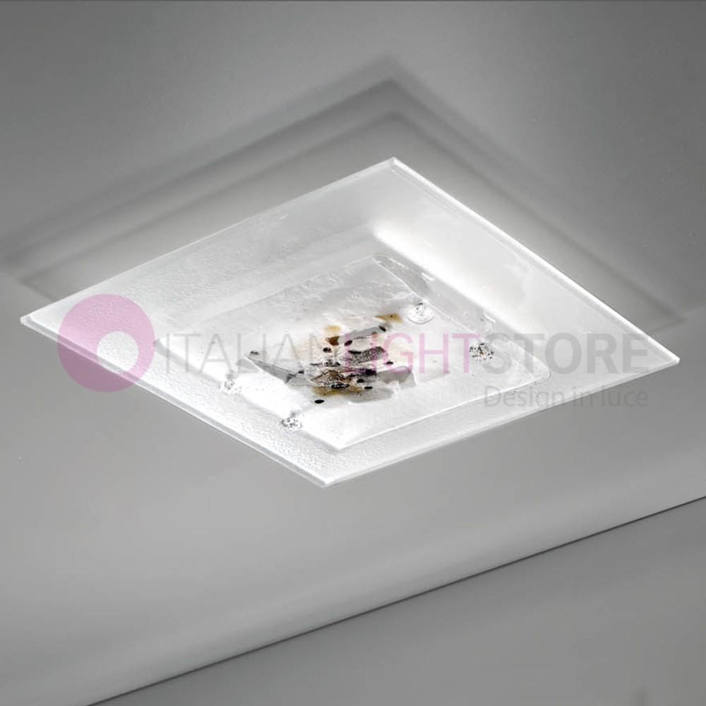 ABSTRACUS Plafoniera Moderna in Vetro di Murano L. 40x40