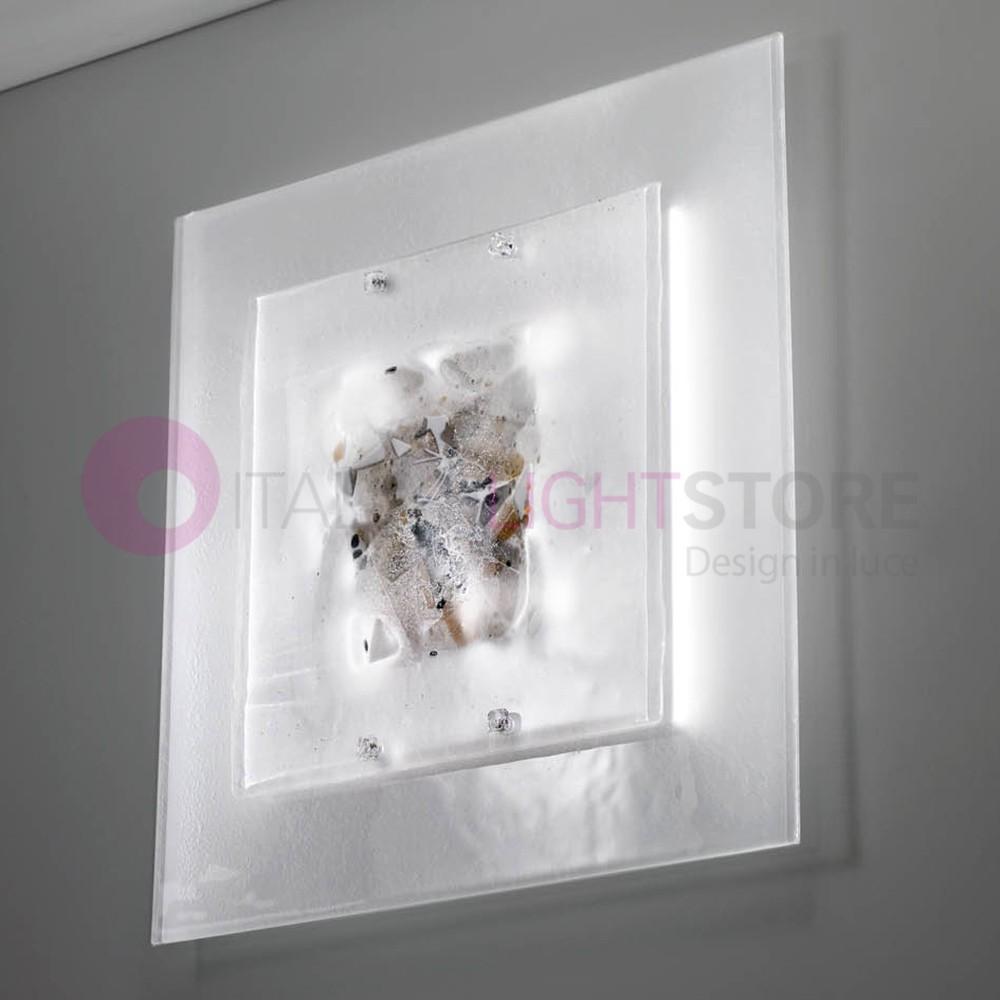 ABSTRACUS Plafoniera Moderna in Vetro di Murano L. 50x50