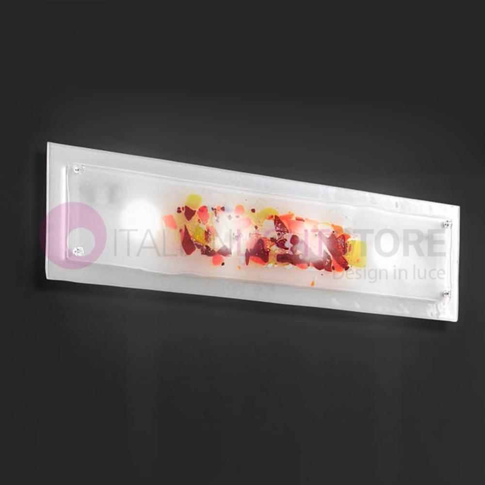 ABSTRACUS Plafoniera Moderna in Vetro di Murano L. 96X25