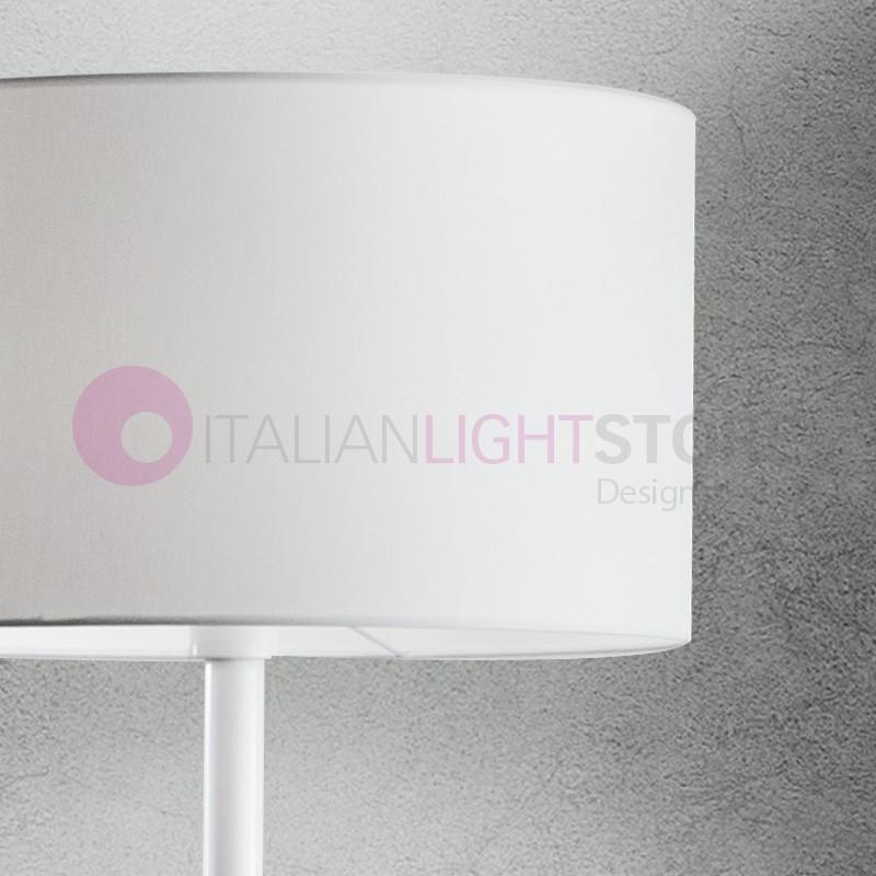 Glass Modern Floor Lamp Floor Lamp With Fabric Shade Design