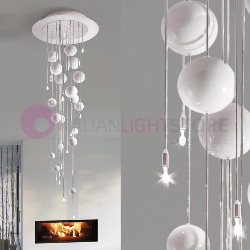 des bulles de lumi re de plafond plafond de perles de verre souffl h 130 design moderne lam. Black Bedroom Furniture Sets. Home Design Ideas