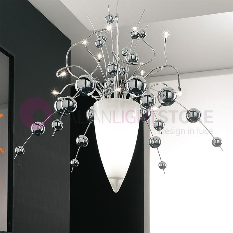 Lampadario Con Sfere Di Cristallo.Bubbles Sospensione Con Sfere In Vetro Soffiato Design Moderno Lam