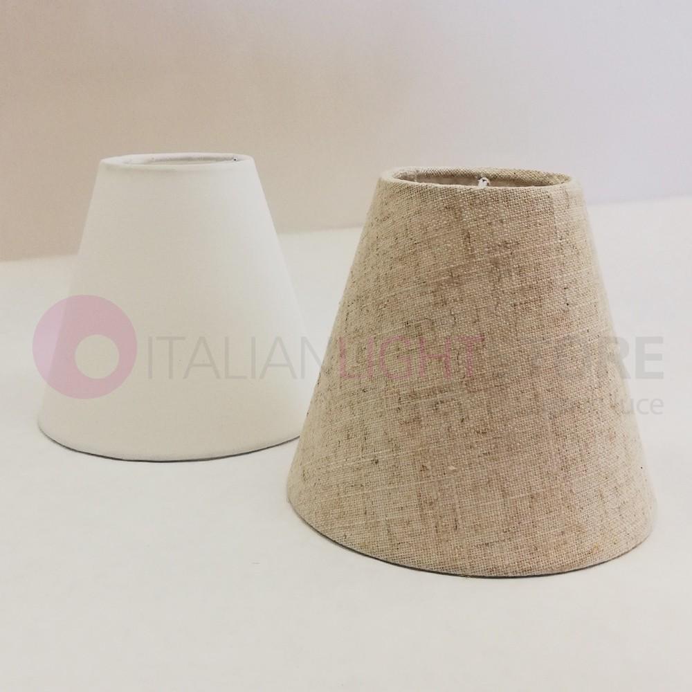 CHARME Paralume Conico in Tessuto Bianco o Sabbia D.14
