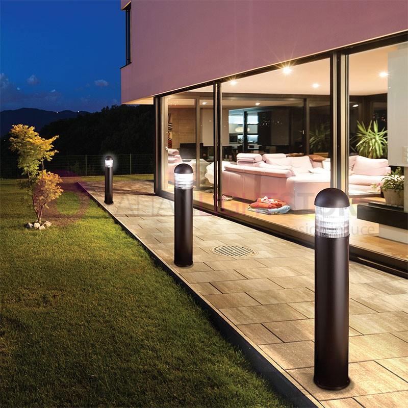Bollard round paletto moderno illuminazione giardino duralite - Illuminazione giardino ...