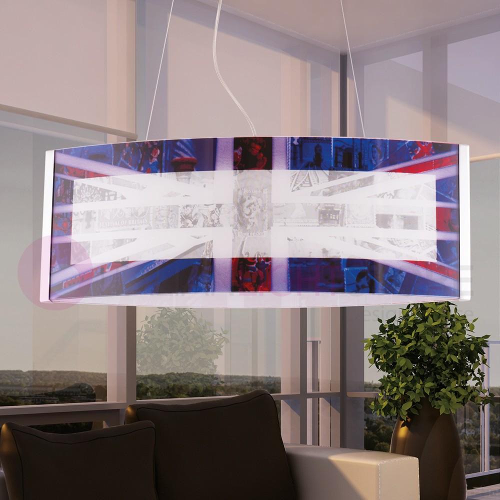 UNION JACK Sospensione Serigrafata Bandiera Inglese Design Moderno