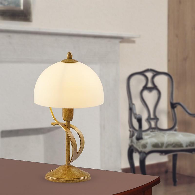 MAROSTICA Lampada da Comodino in Ferro Stile Classico Rustico