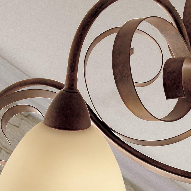 1750 luminaire au plafond 3 lumi res style rustique classique pays en fer forg. Black Bedroom Furniture Sets. Home Design Ideas