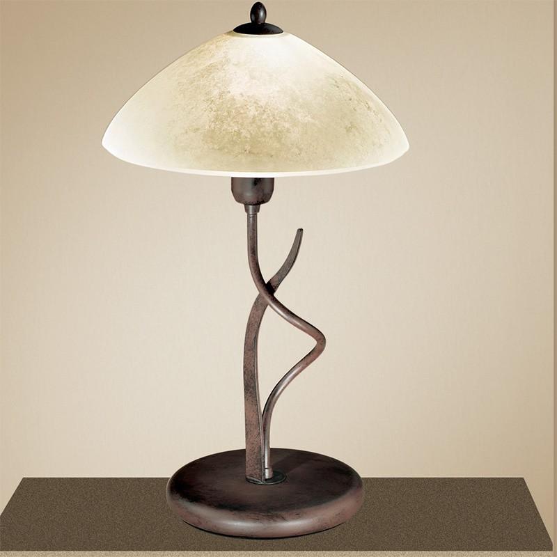 Lampade Da Tavolo Ferro Battuto : Lg lampada da tavolo stile rustico ferro battuto lam